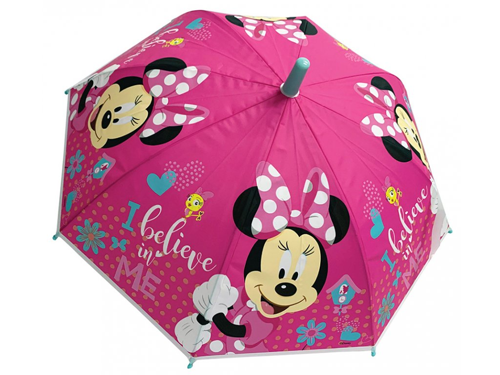 Dětský deštník MINNIE 3643 - růžový
