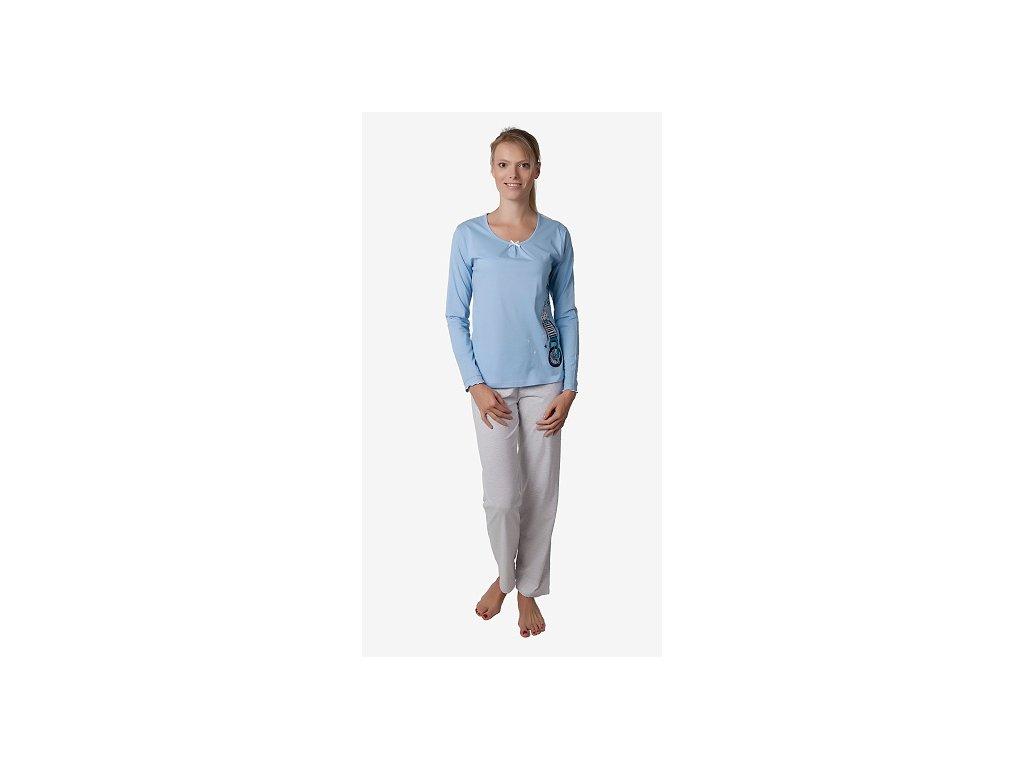 Dámské pyžamo CALVI 17-580 - modré (Velikost XL)