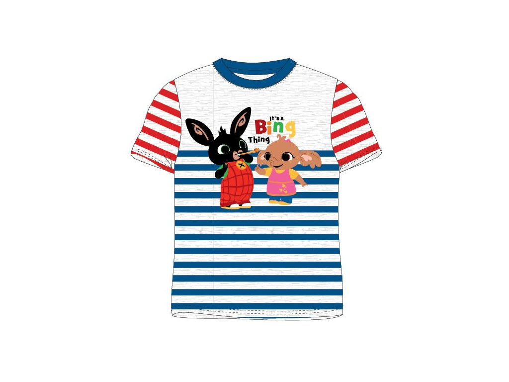 Dětské triko ZAJÍČEK BING 5202050 - proužky