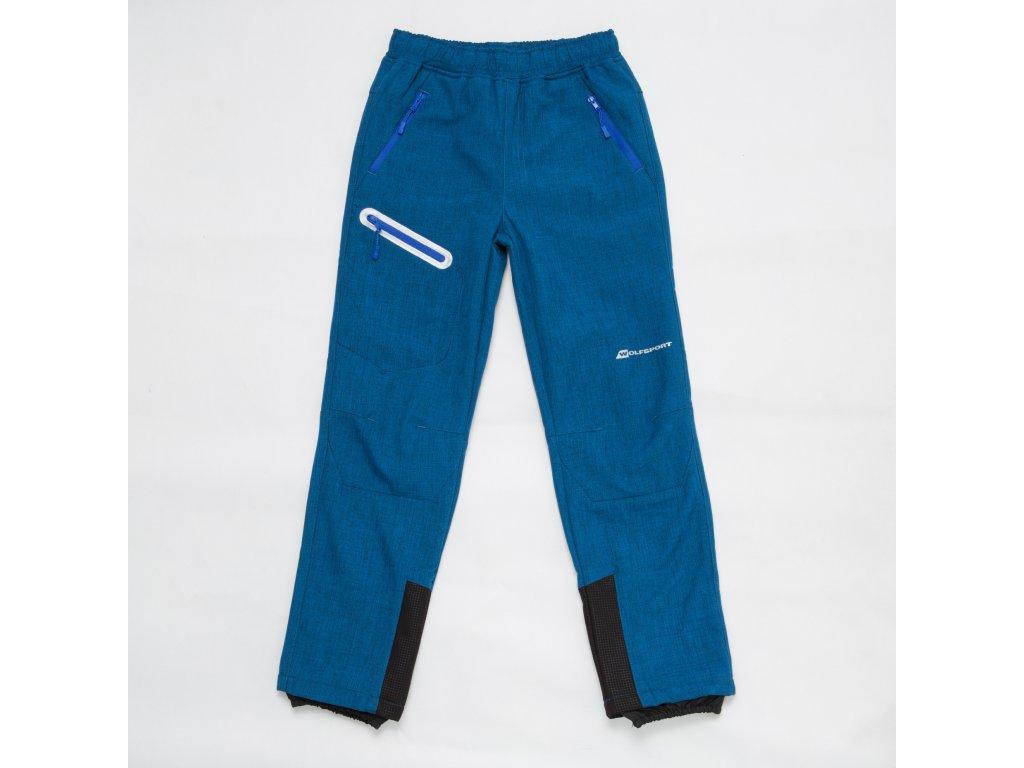 Chlapecké softshellové kalhoty WOLF B2897 - modré, s flísem na vnitřní straně (Velikost 170)