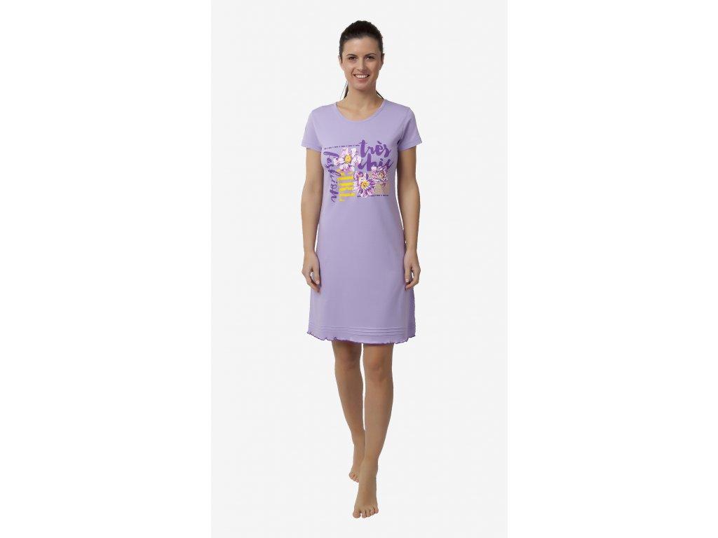 Dámská noční košile CALVI 18-177 - fialová (Velikost XL)