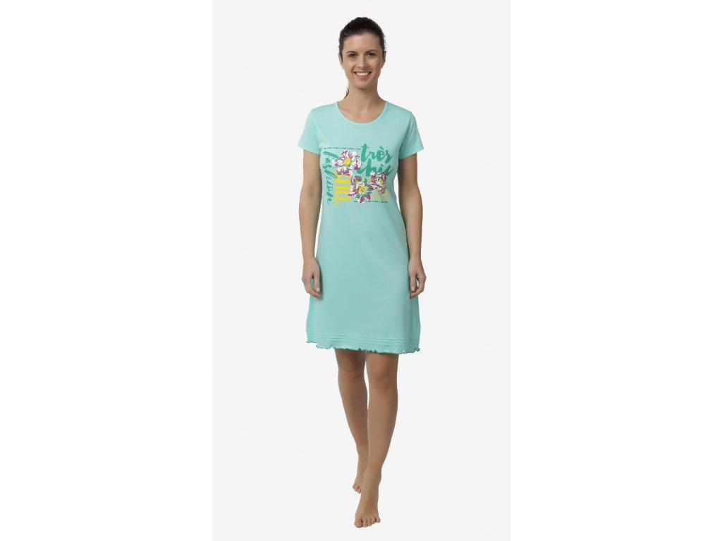 Dámská noční košile CALVI 18-177 - zelinkavá (Velikost XL)