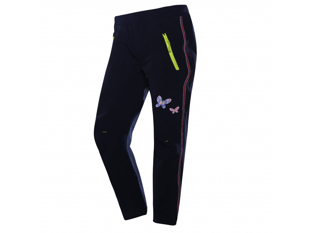 Dívčí softshellové kalhoty WOLF B2982 - tm. modré (Velikost 146)