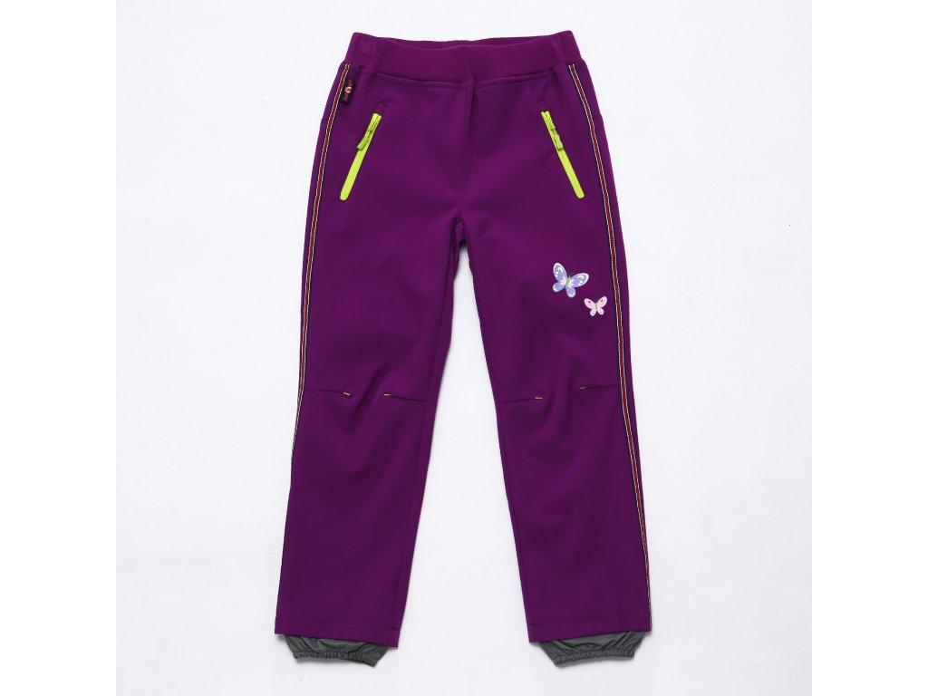 Dívčí softshellové kalhoty WOLF B2982 - fialové (Velikost 146)