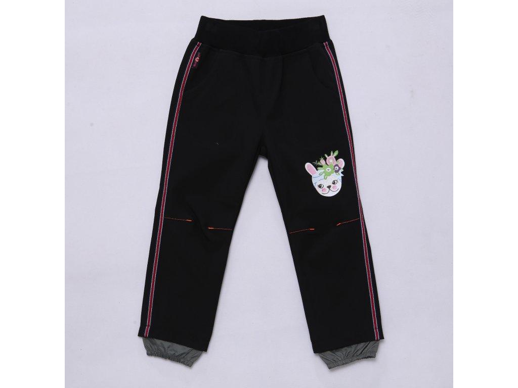 Dívčí softshellové kalhoty WOLF B2981 - černé (Velikost 110)