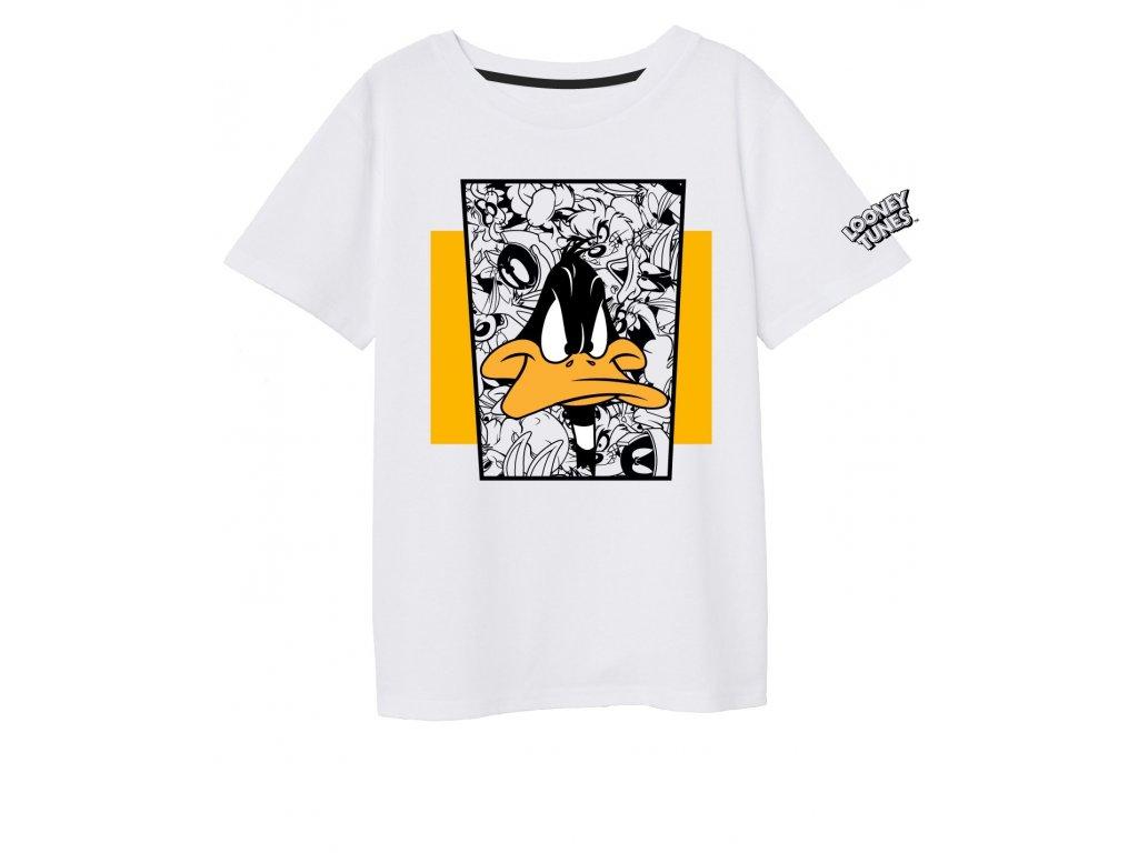 Chlapecké triko DAFFY DUCK 5202557 - potisk, bílá/žlutá
