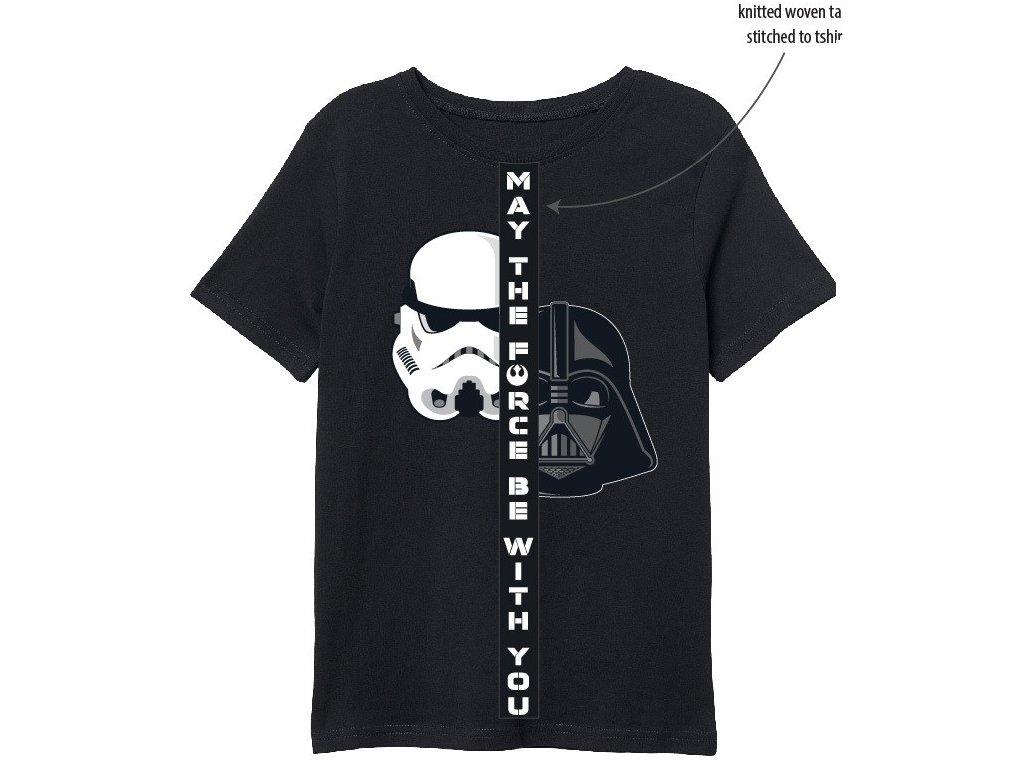 Chlapecké triko STAR WARS 52028419 - černé