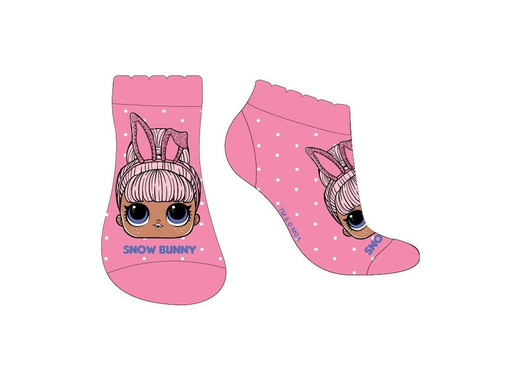 Dětské kotníkové ponožky LOL 5234073 - růžové