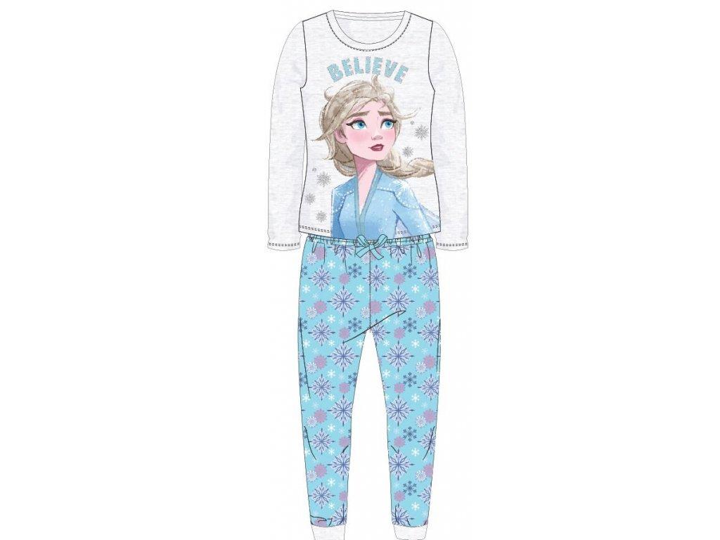 Dívčí pyžamo FROZEN 52048886 - sv. šedý melír/tyrkys