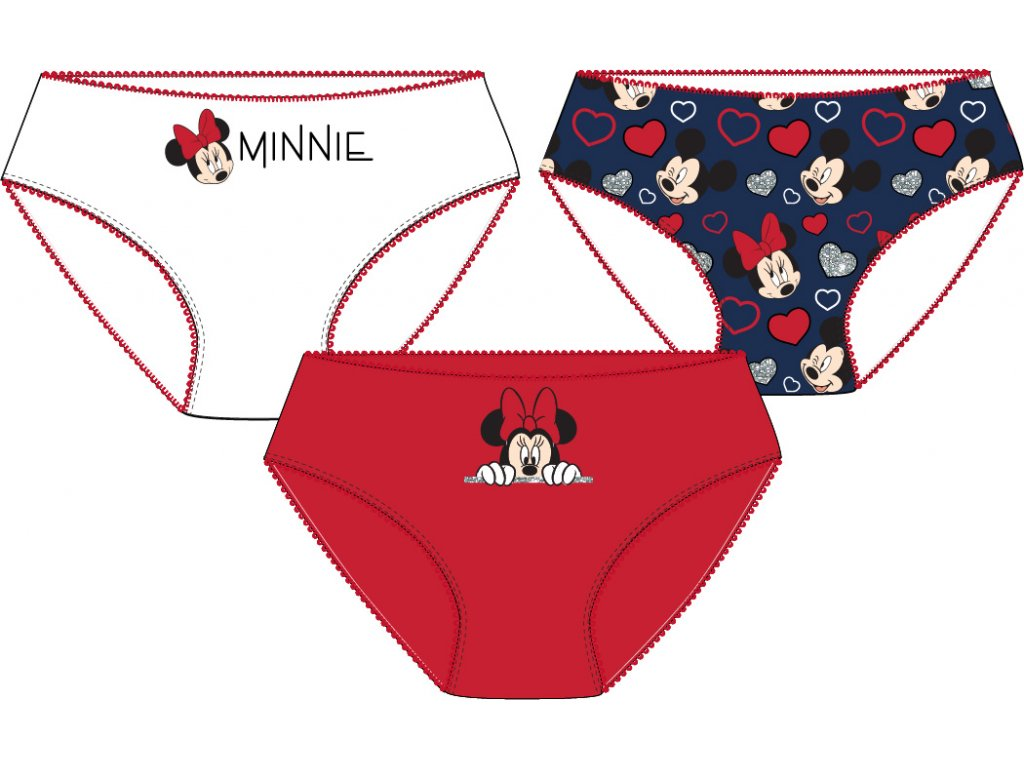 Dívčí kalhotky MINNIE 3PACK 52337300 - mix barev