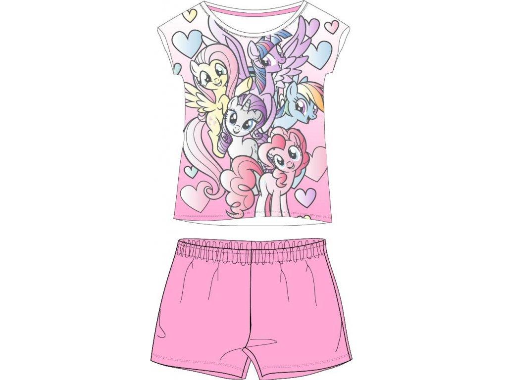 Dívčí pyžamo MY LITTLE PONY 5204780 - růžové kraťasy