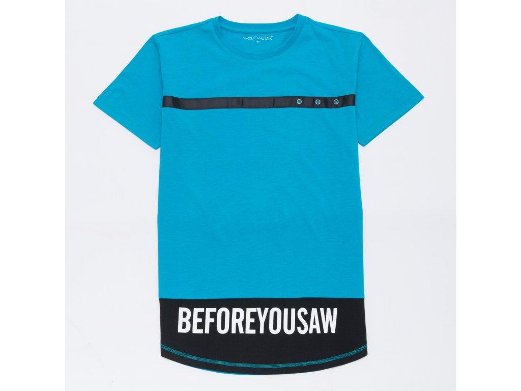 Chlapecké triko WOLF S2903 - tyrkysové (Velikost 164)