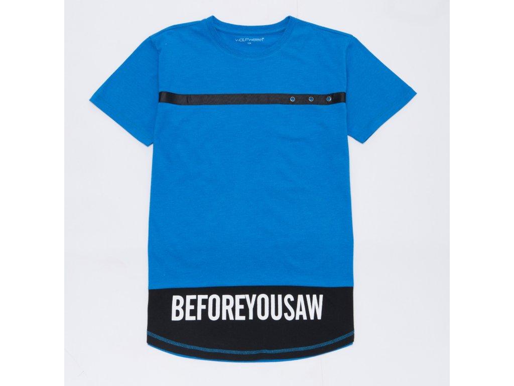 Chlapecké triko WOLF S2903 - modré (Velikost 164)