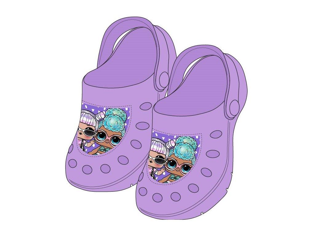 Dětské nazouváky LOL 5251205 - fialové