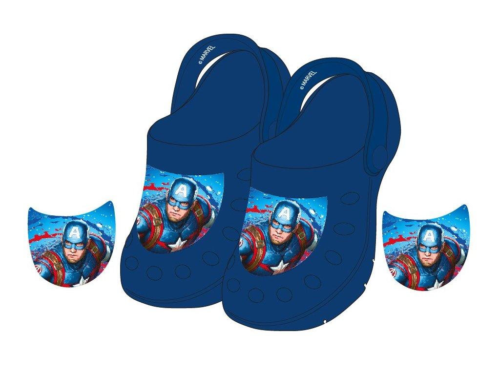 Dětské nazouváky AVENGERS 5251365 - tm. modré