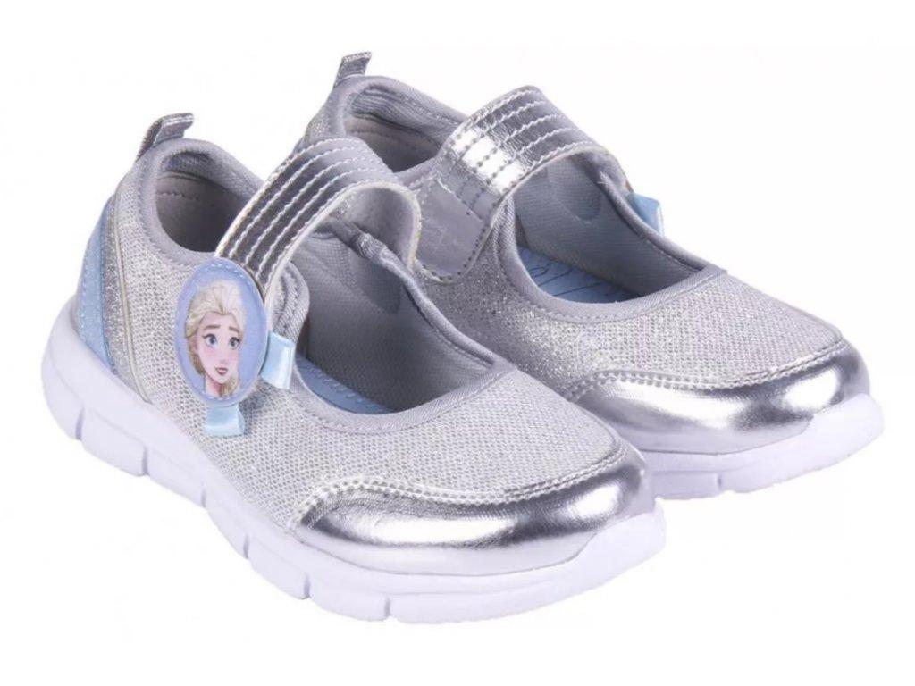 Dívčí baleríny FROZEN 004688 - stříbrné