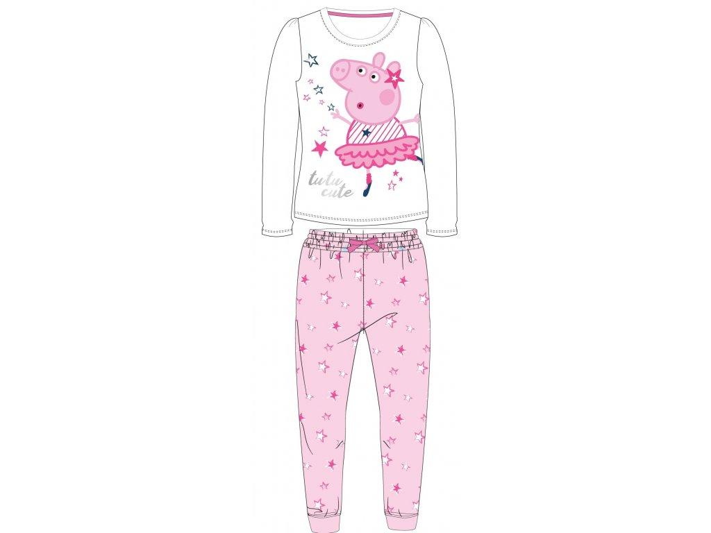 Dětské pyžamo PEPPA PIG 5204797 - baletka-bílá/růžová