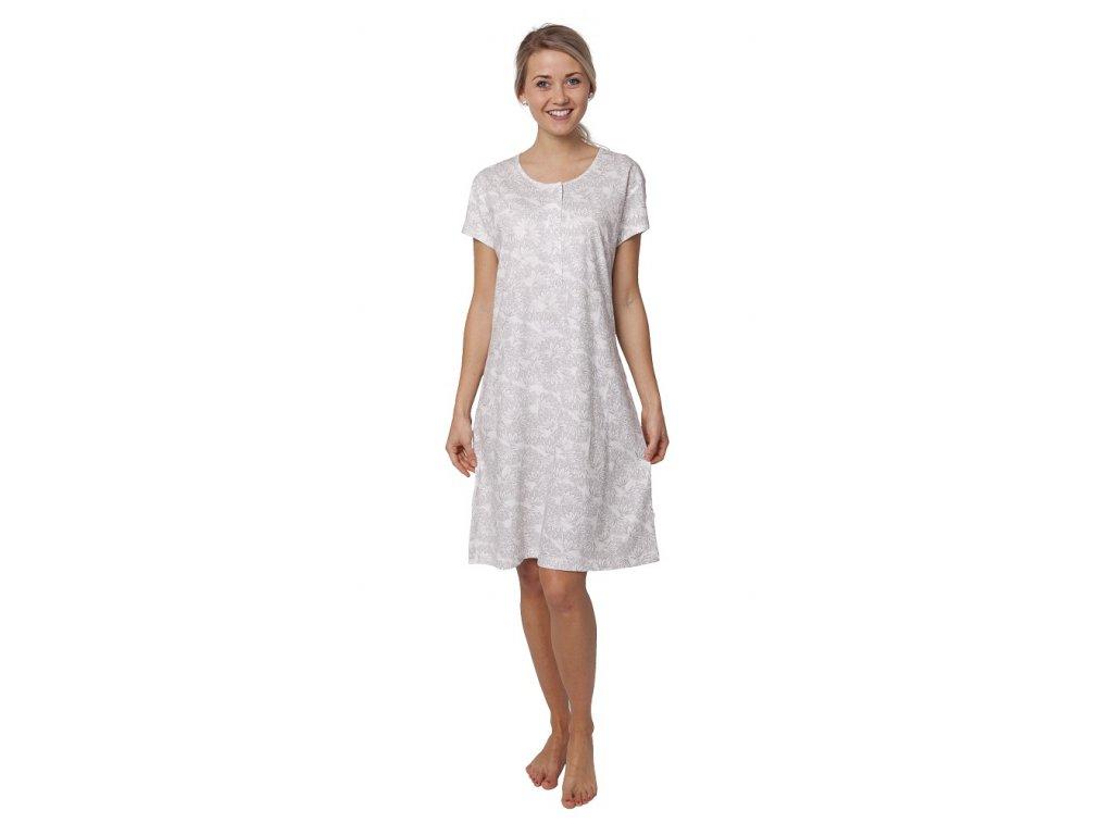 Dámská noční košile CALVI 19-063 - šedá (Velikost S)