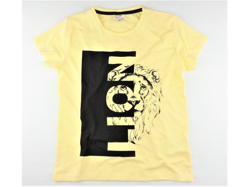 Chlapecké triko FILE KIDS - vanilkové, LION (Velikost 176)