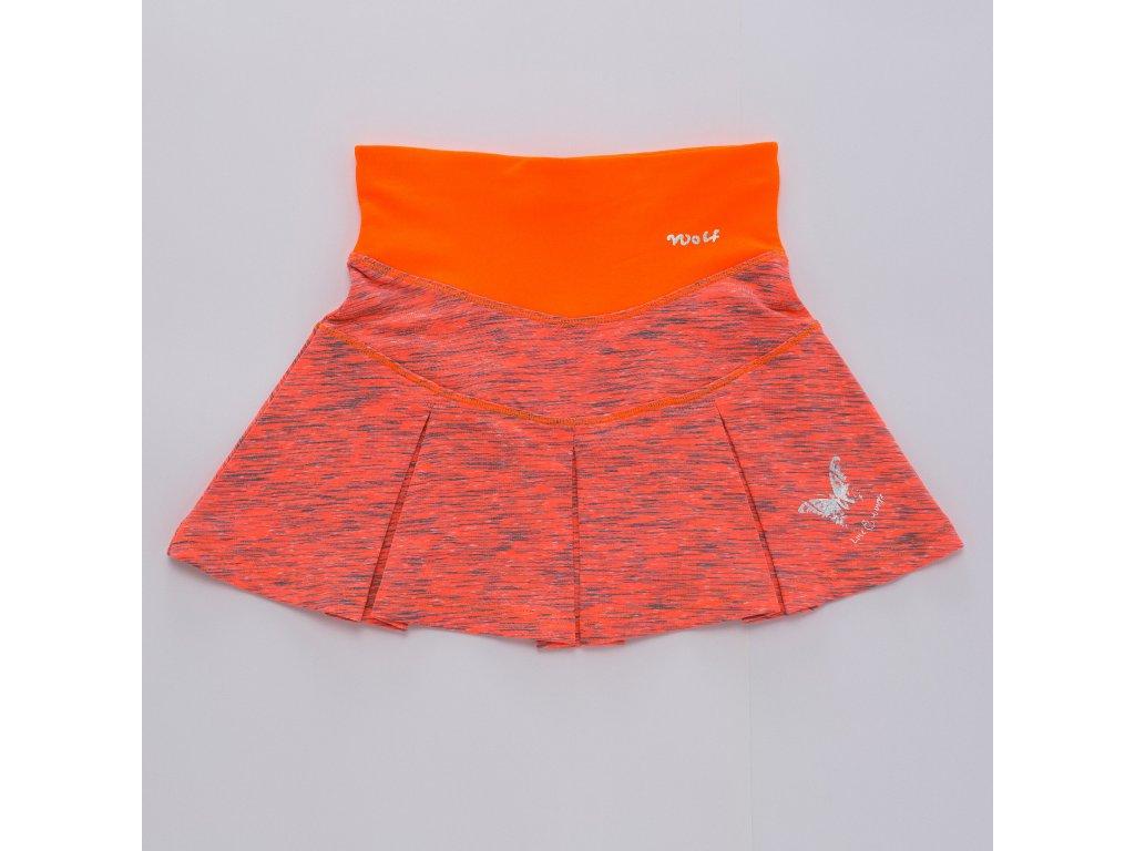 Dívčí funkční sukýnka WOLF H2948 - oranžová (Velikost 146)