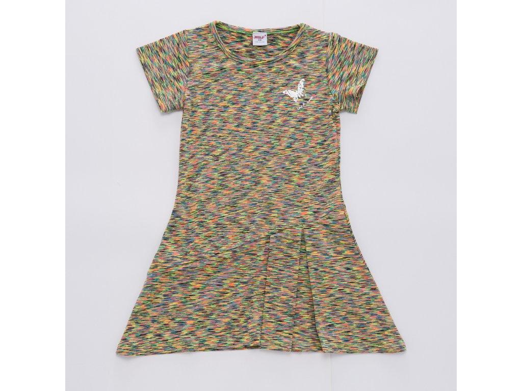 Dívčí funkční šaty WOLF H2949 - pískové (Velikost 128)