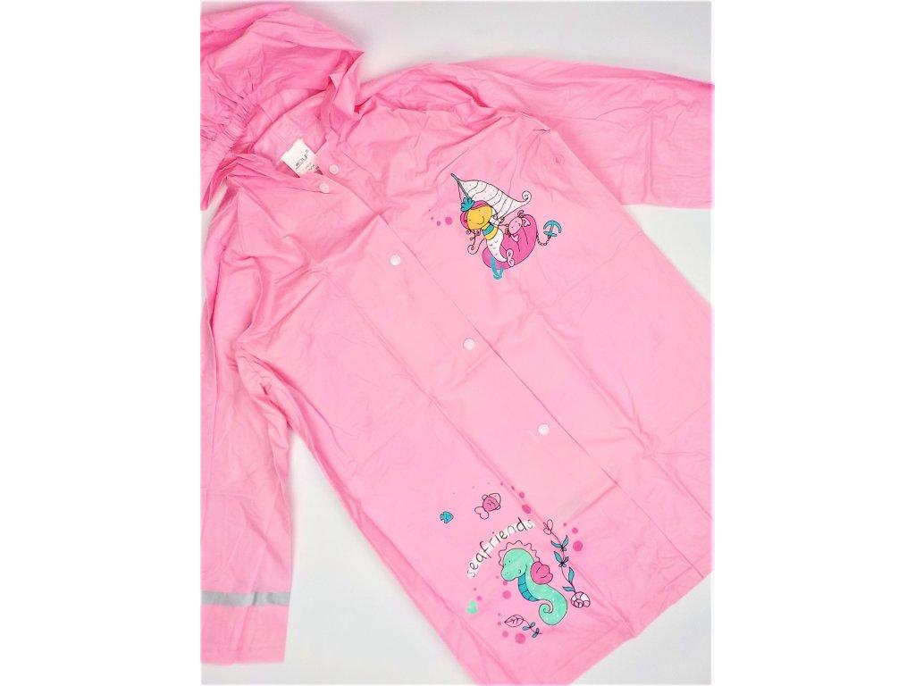 Dívčí pláštěnka WOLF Y2912 - sv. růžová (Velikost 92/98)