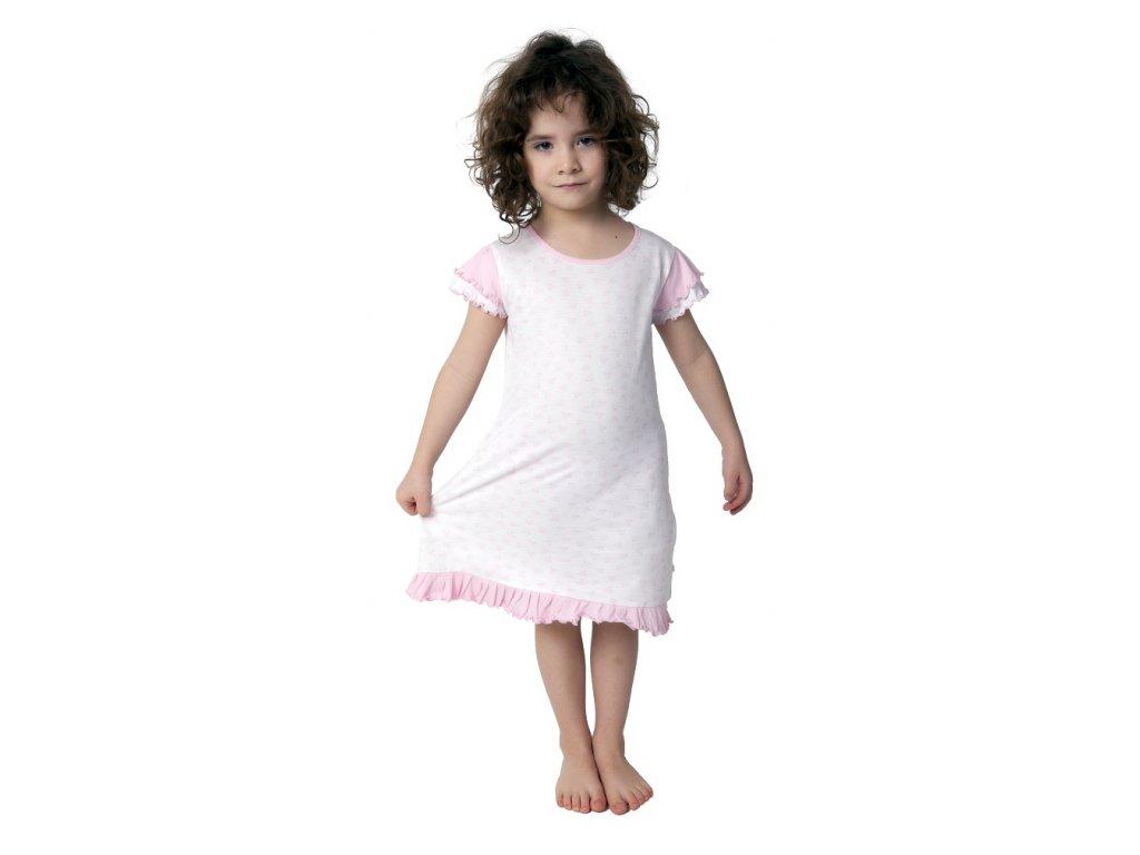 Dívčí noční košile Calvi 19-061 - růžová bez potisku (Velikost 130)