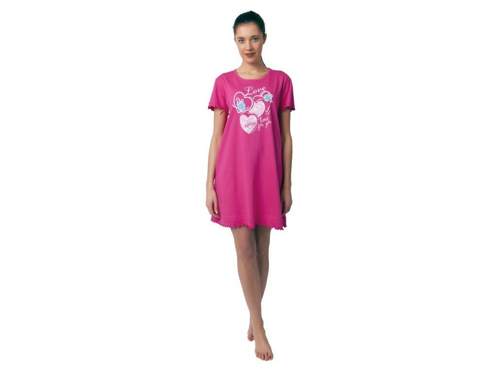 Dámská noční košile Calvi 19-044 - růžová (Velikost XL)