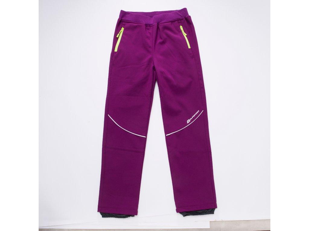 Dívčí softshellové kalhoty B2787 - růžové (Velikost 116)
