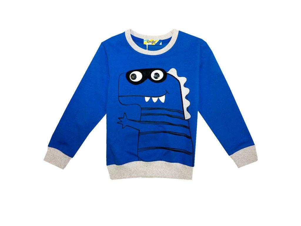 Chlapecké triko-mikina KUGO M0229 - modré (Velikost 110)