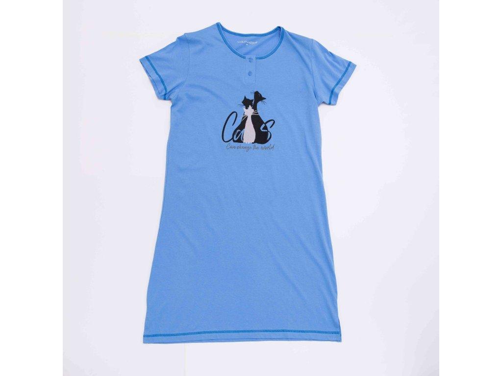 Dámská noční košile WOLF D2941 - modrá (Velikost XXL)