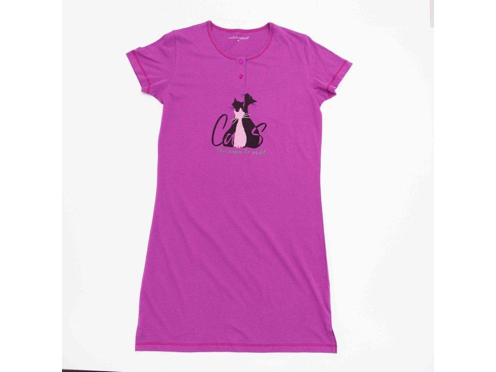 Dámská noční košile WOLF D2941 - fialová (Velikost XXL)