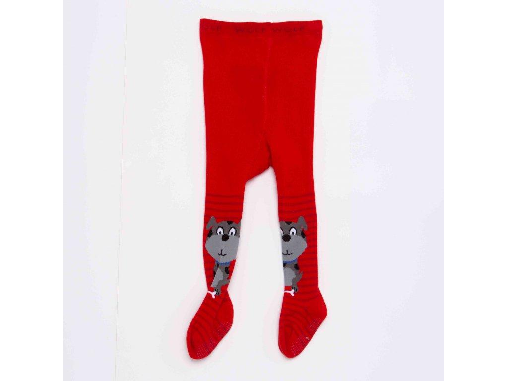 Dětské punčocháče WOLF P2910 - červené (Velikost 86/92)