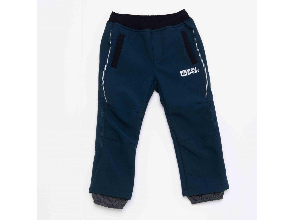 Chlapecké softshellové kalhoty WOLF B2993 - petrolej (Velikost 110)