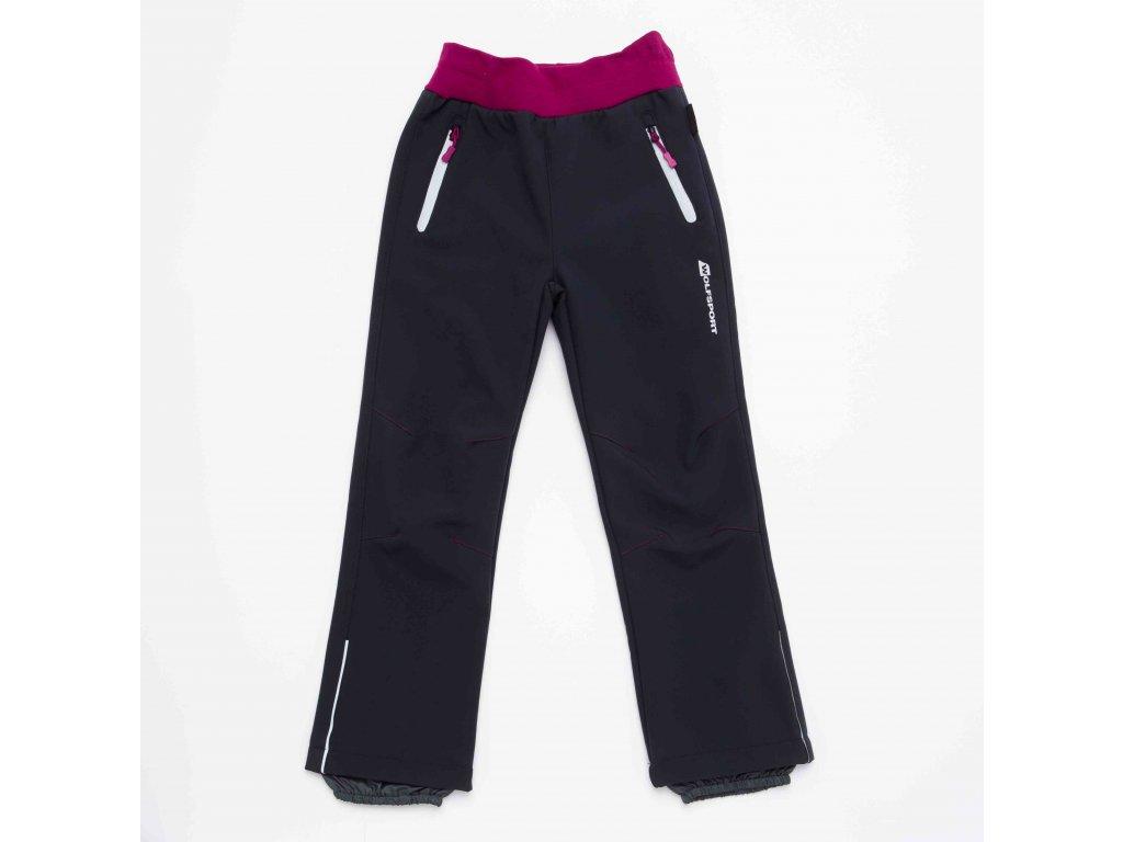 Dívčí softshellové kalhoty WOLF B2992 - šedé (Velikost 146)