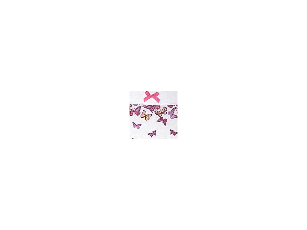 Dámské kalhotky ANDRIE PS2722 - bílé - růžová mašlička (Velikost XXL)