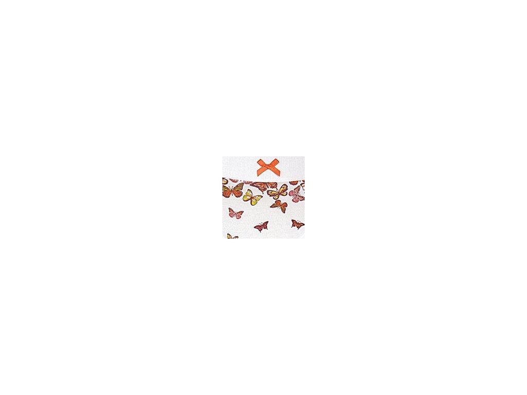 Dámské kalhotky ANDRIE PS2722 - bílé - oranžová mašlička (Velikost XXL)