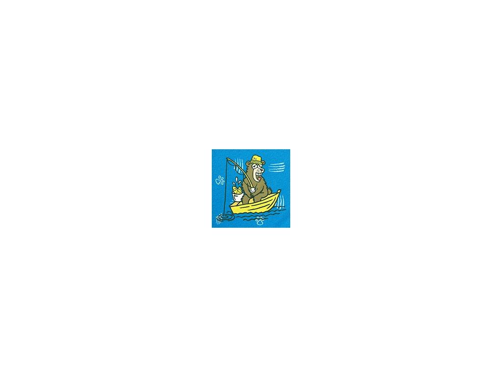 Pánské trenýrky ANDRIE PS5423 - modré s obrázkem (Velikost XXL)