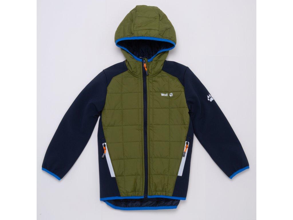 Chlapecká softshellová bunda WOLF B2966 - khaki (Velikost 140/146)