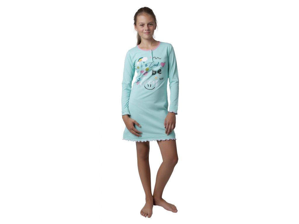 Dívčí noční košile Calvi 18-326 - zelinkavá (Velikost 160)