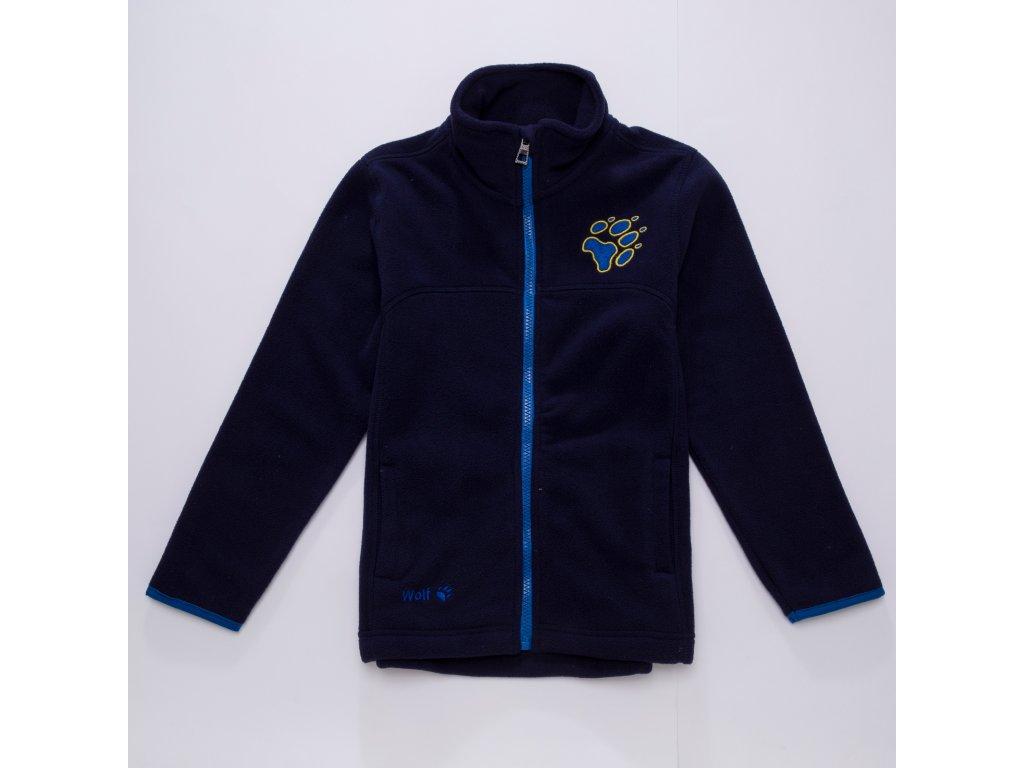 Chlapecká flísová mikina WOLF B2794 - tm.modrá (Velikost 122)