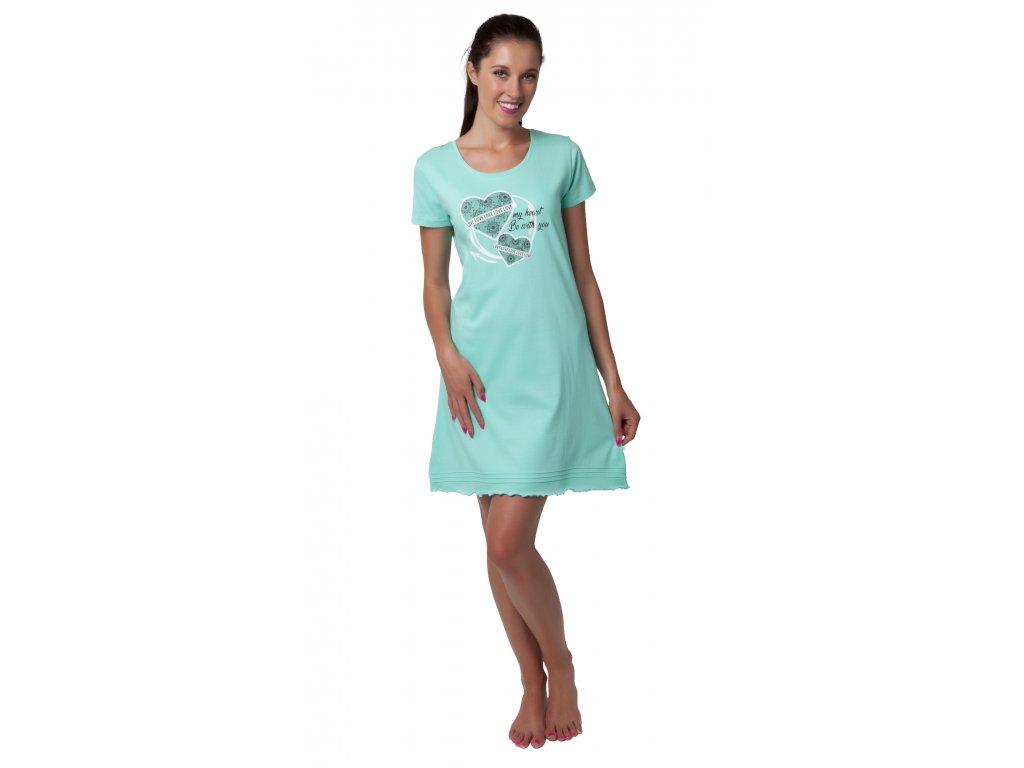 Dámská noční košile Calvi 19-509 - zelinkavá (Velikost XL)