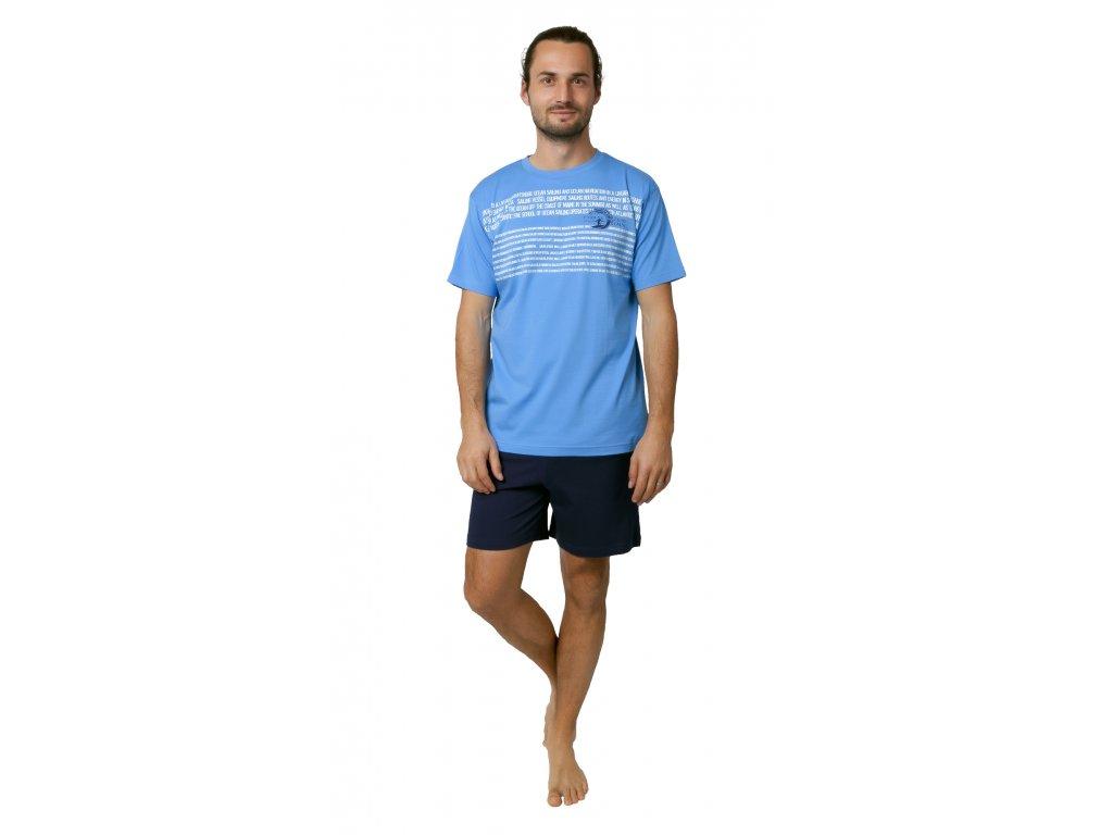 Pánské pyžamo Calvi 19-089 - modré (Velikost XL)
