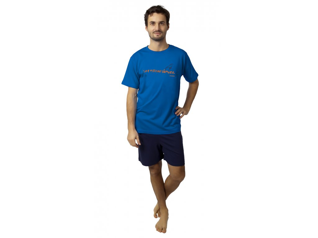 Pánské pyžamo Calvi 19-087 - modré (Velikost XXL)