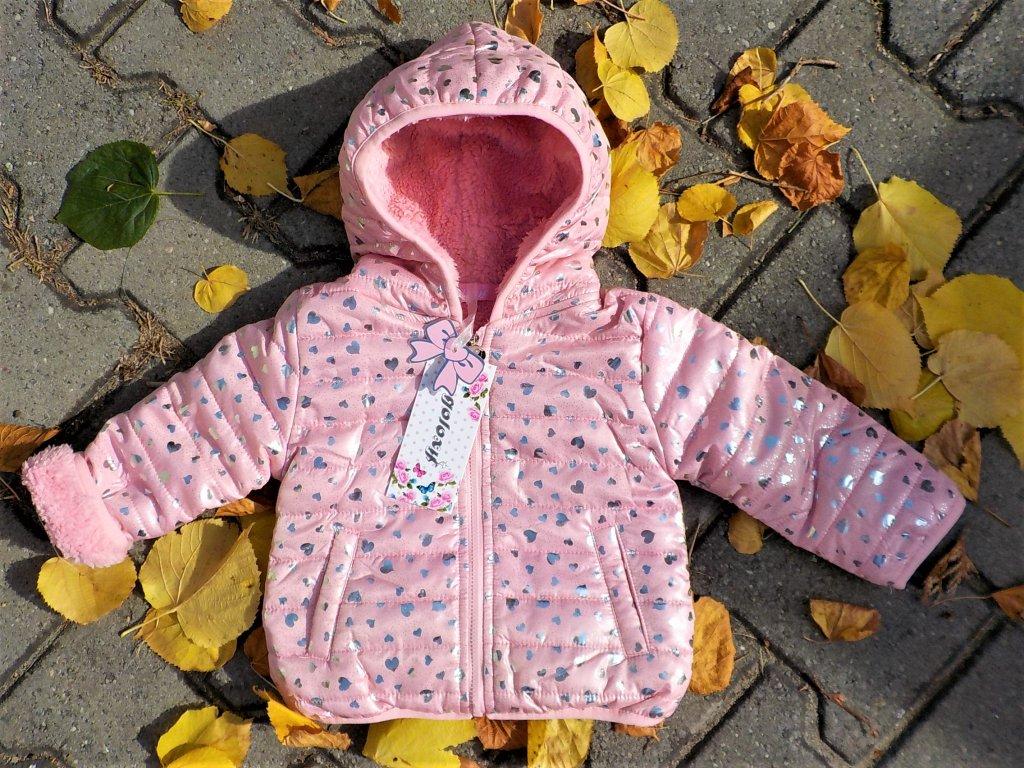 Dívčí bunda GOLOXY MQ-969 - růžová (Velikost 5let)