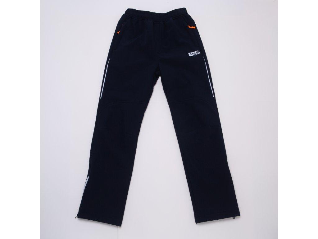 Chlapecké softshellové kalhoty WOLF B2995 - tm. modré (Velikost 170)