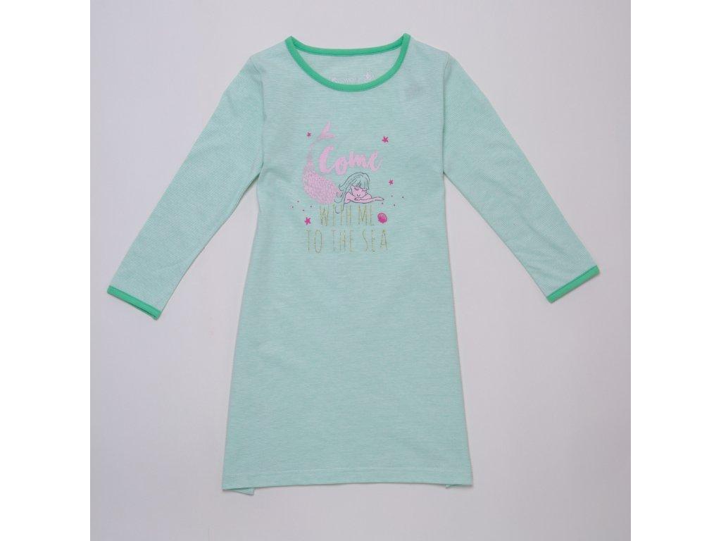 Dívčí noční košile WOLF S2983 - zelinkavá (Velikost 134)