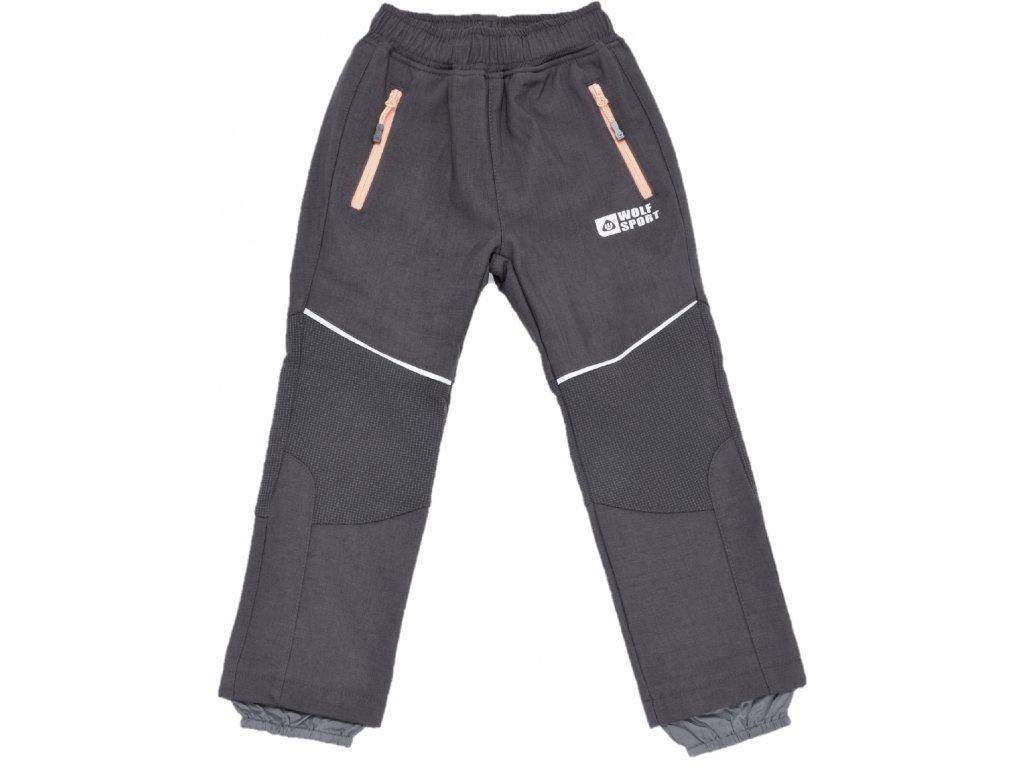Dětské softshellové kalhoty WOLF B2996 - černé (Velikost 128)