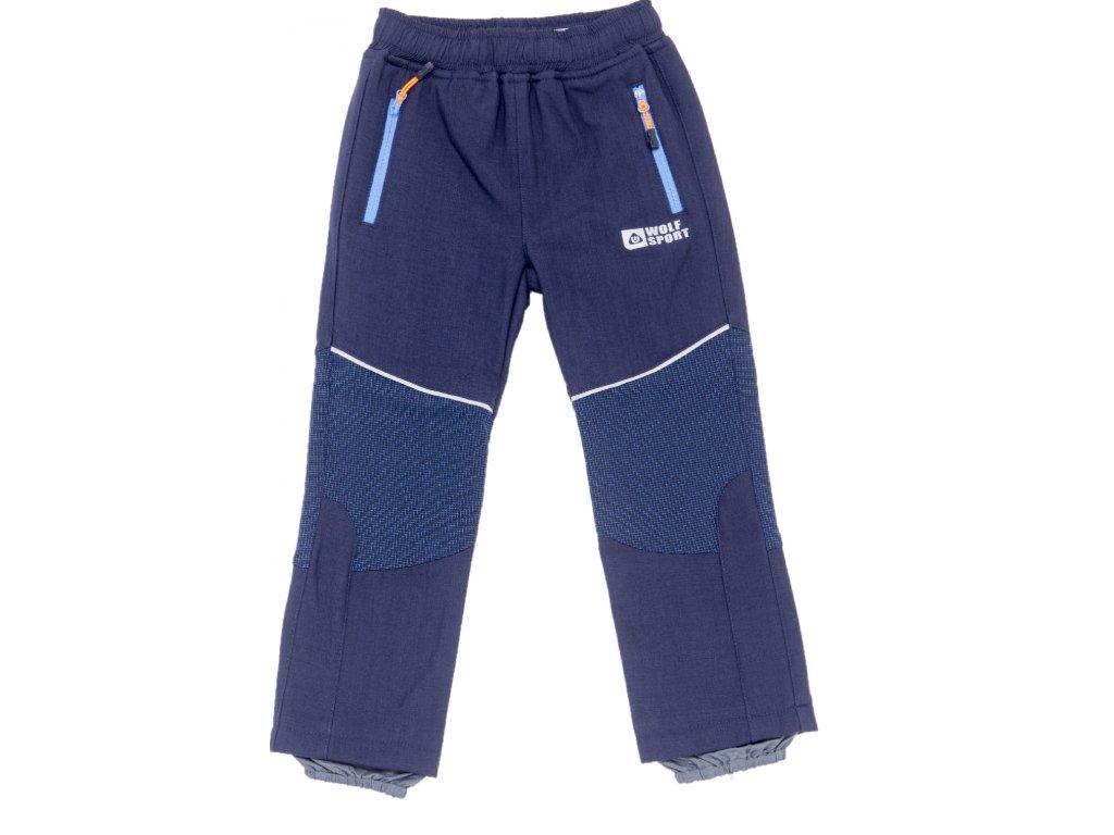 Dětské softshellové kalhoty WOLF B2996 - tm. modré (Velikost 128)