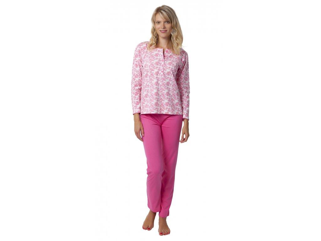 Dámské pyžamo Calvi 19-522 - růžové (Velikost XL)
